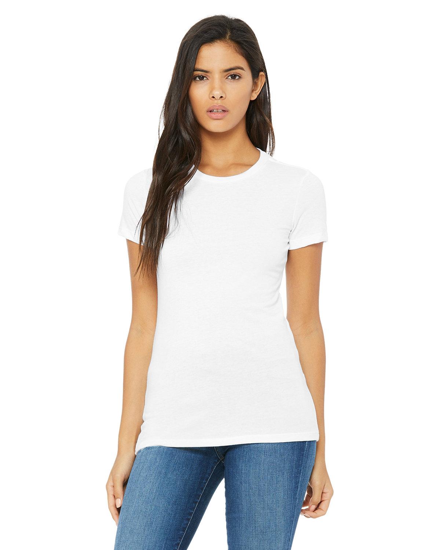 Bella + Canvas Ladies' Slim Fit T-Shirt SOLID WHT BLEND