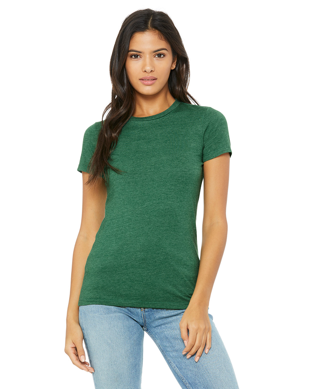 Bella + Canvas Ladies' Slim Fit T-Shirt HTHR GRASS GRN