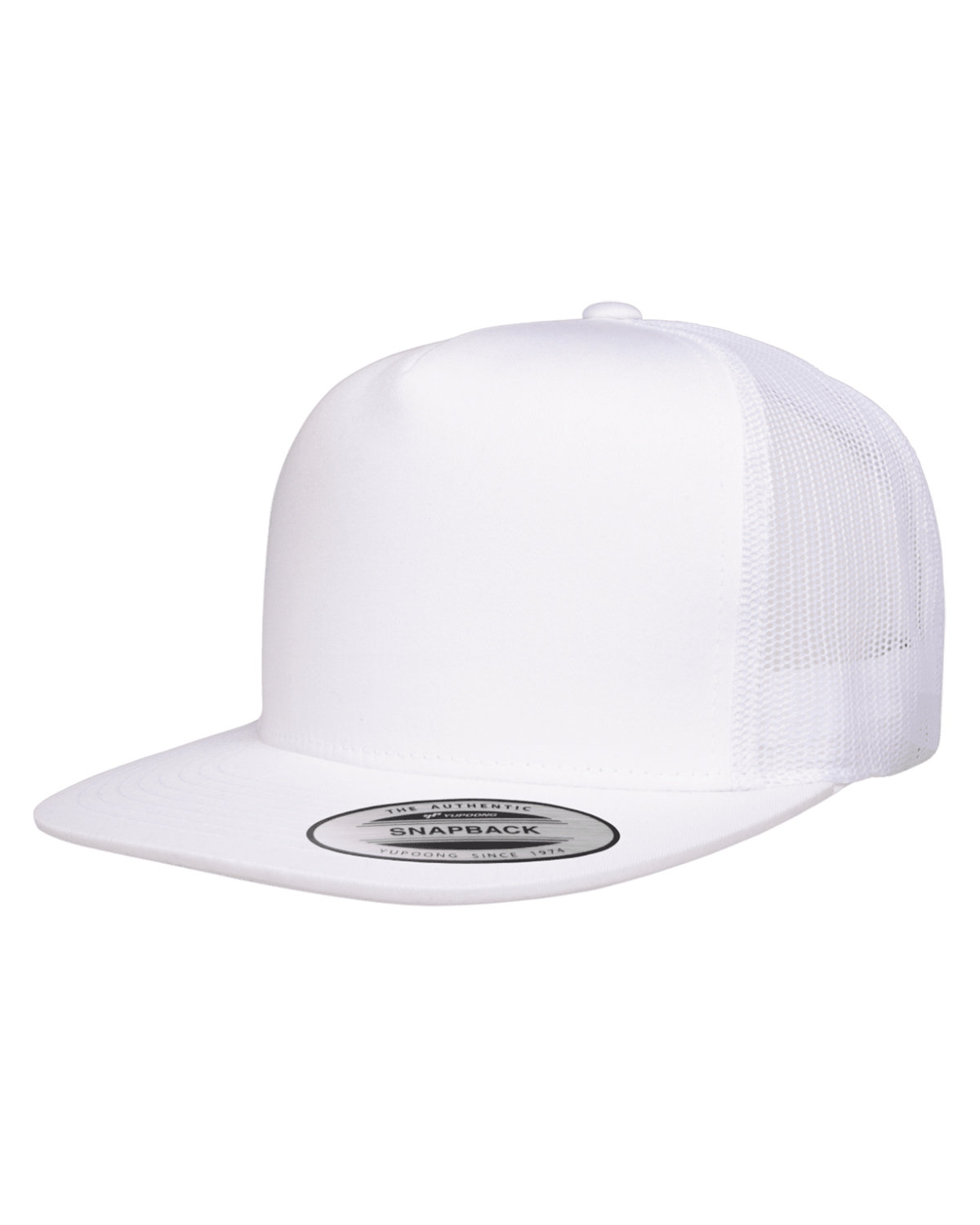 Yupoong Adult 5-Panel Classic Trucker Cap WHITE