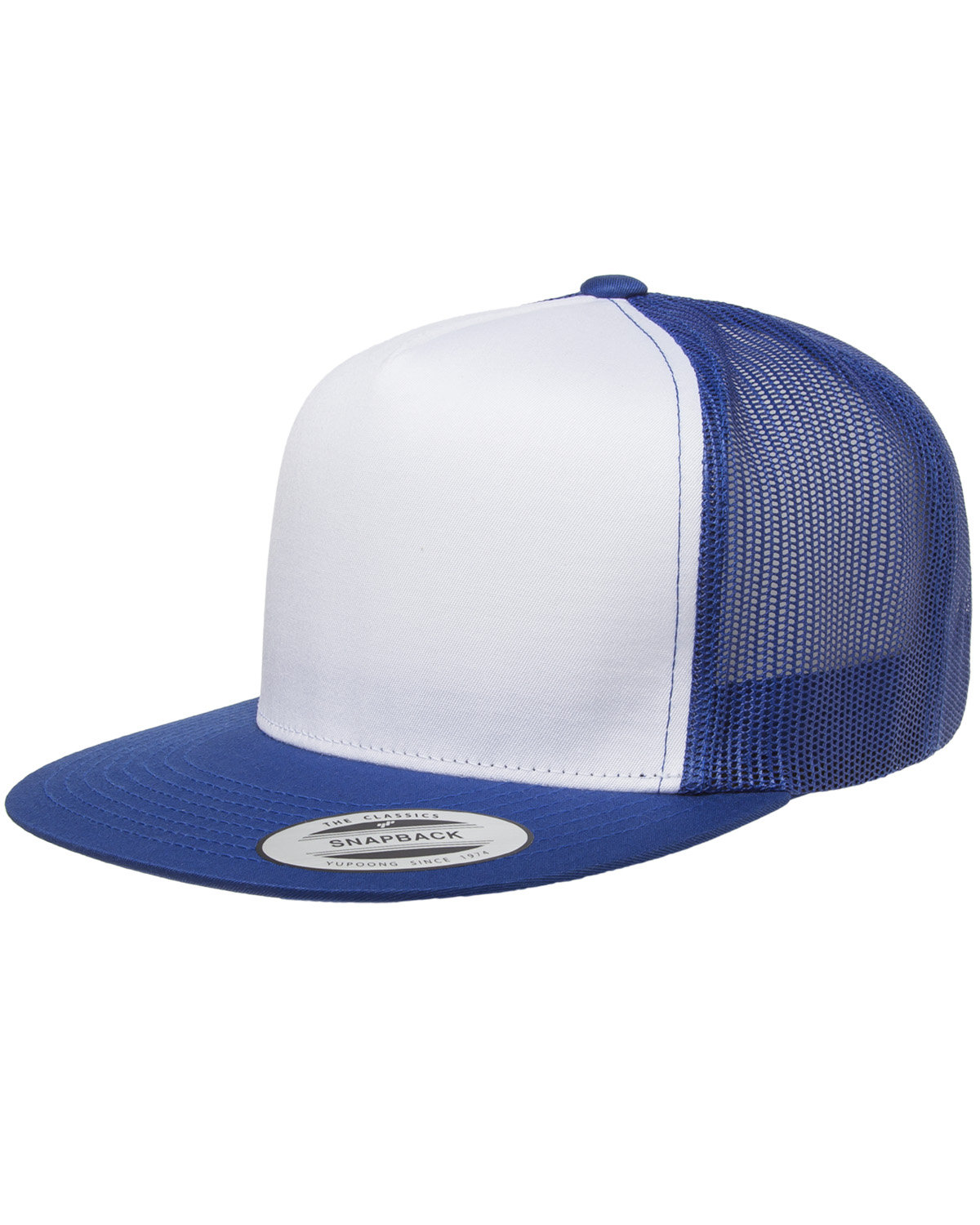 Yupoong Adult Classic Trucker with White Front Panel Cap ROYAL/ WHT/ ROYL