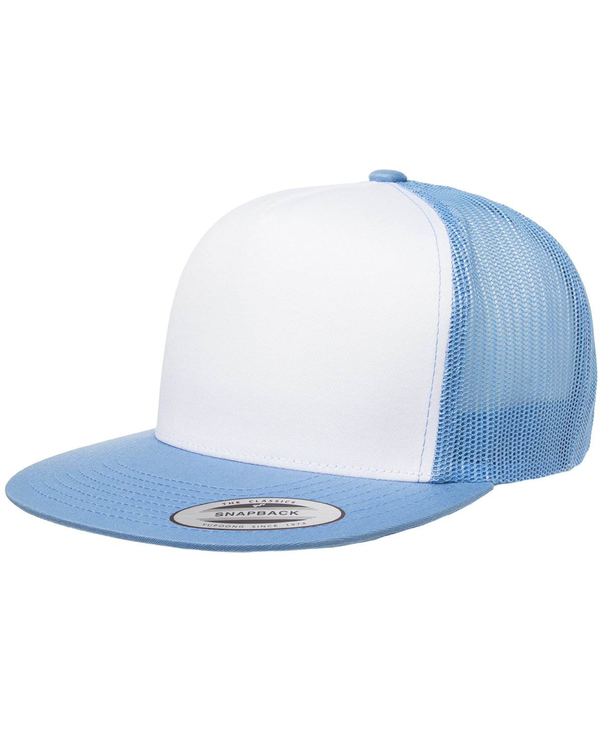Yupoong Adult Classic Trucker with White Front Panel Cap C BL/ WHT/ C BLU