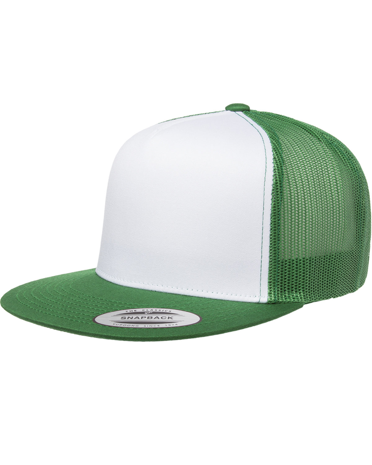 Yupoong Adult Classic Trucker with White Front Panel Cap KELLY/ WHT/ KLY