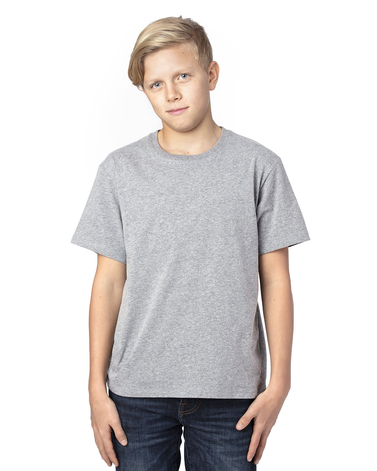 Threadfast Apparel Youth Ultimate T-Shirt HEATHER GREY