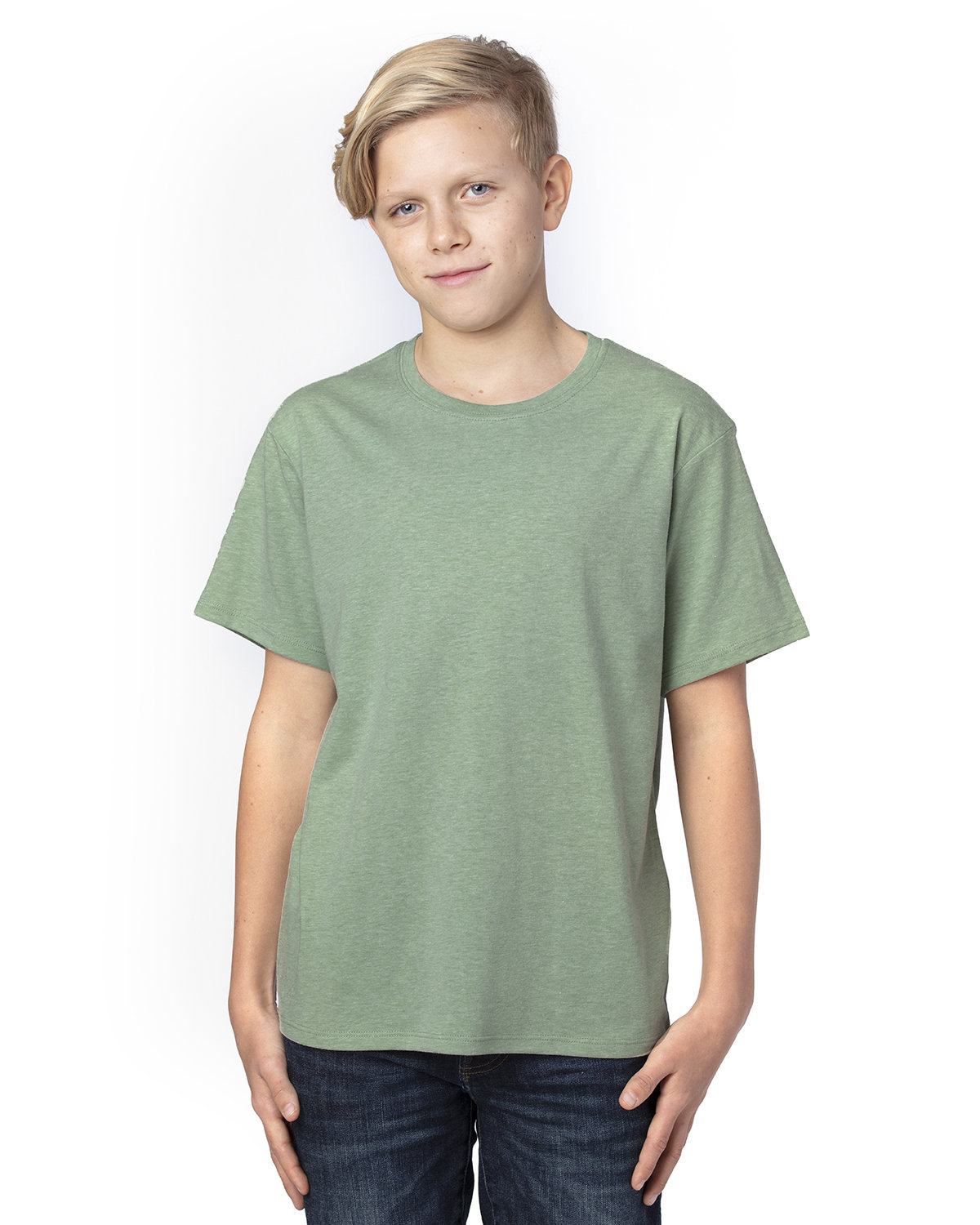 Threadfast Apparel Youth Ultimate T-Shirt ARMY HEATHER