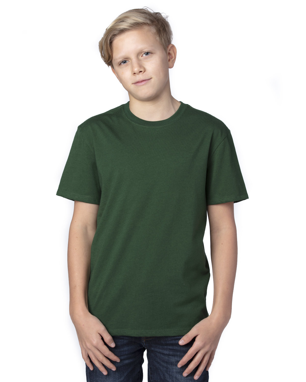 Threadfast Apparel Youth Ultimate T-Shirt FOREST GREEN