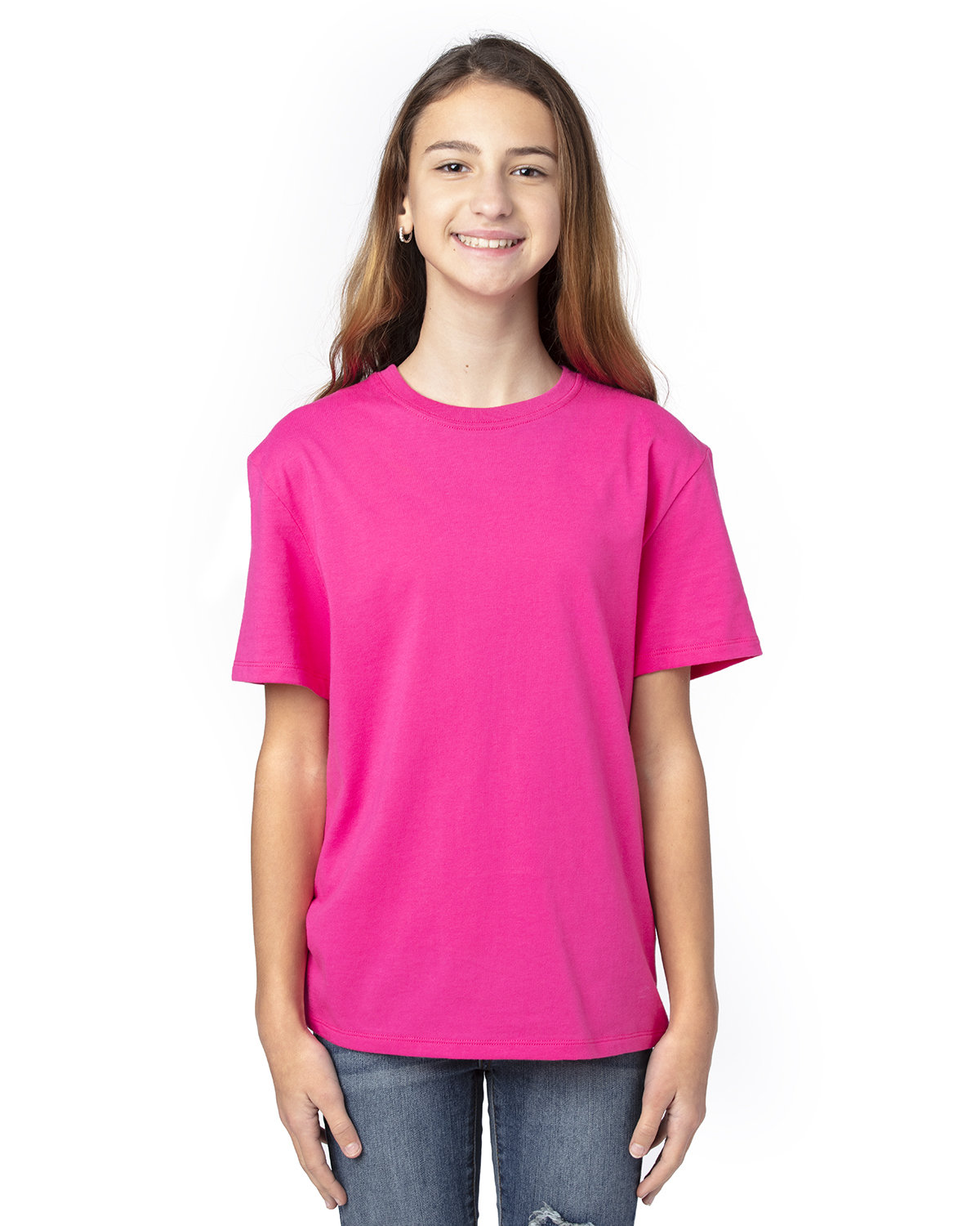 Threadfast Apparel Youth Ultimate T-Shirt HOT PINK