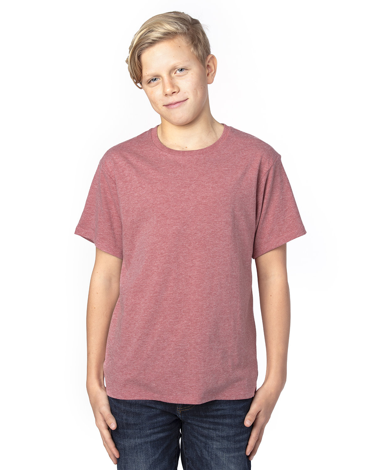 Threadfast Apparel Youth Ultimate T-Shirt MAROON HEATHER