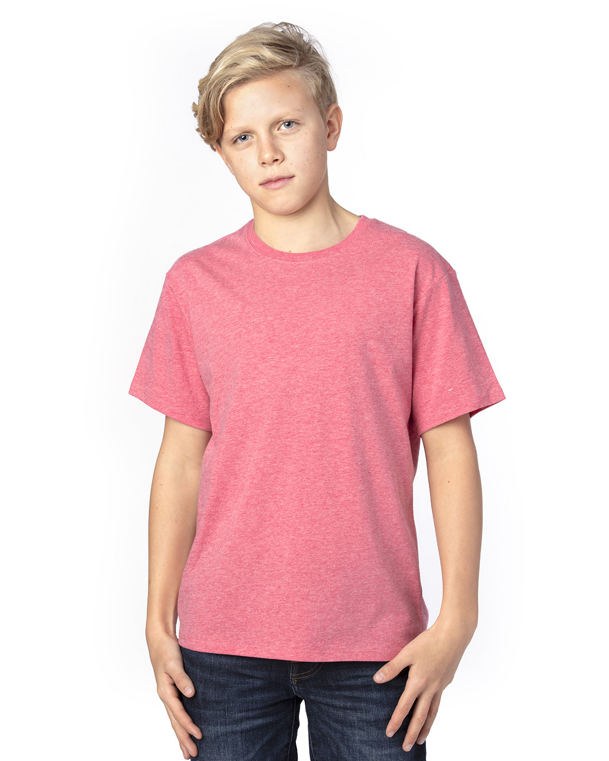 Threadfast Apparel Youth Ultimate T-Shirt RED HEATHER
