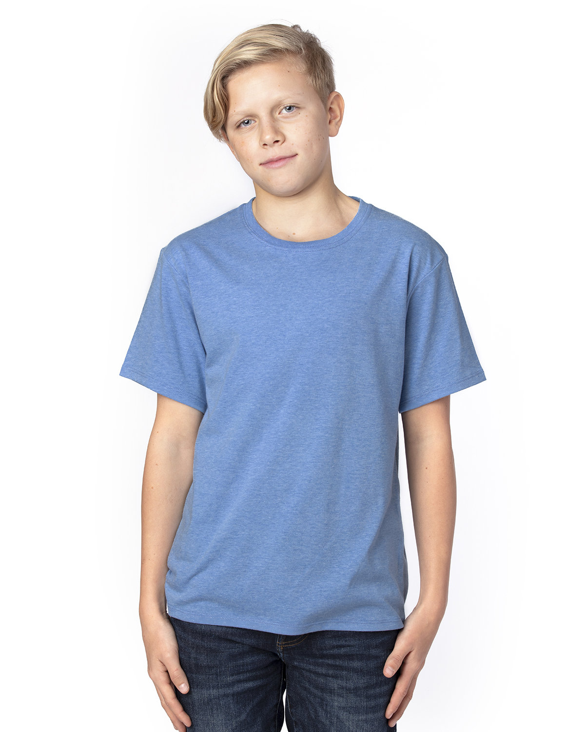 Threadfast Apparel Youth Ultimate T-Shirt ROYAL HEATHER