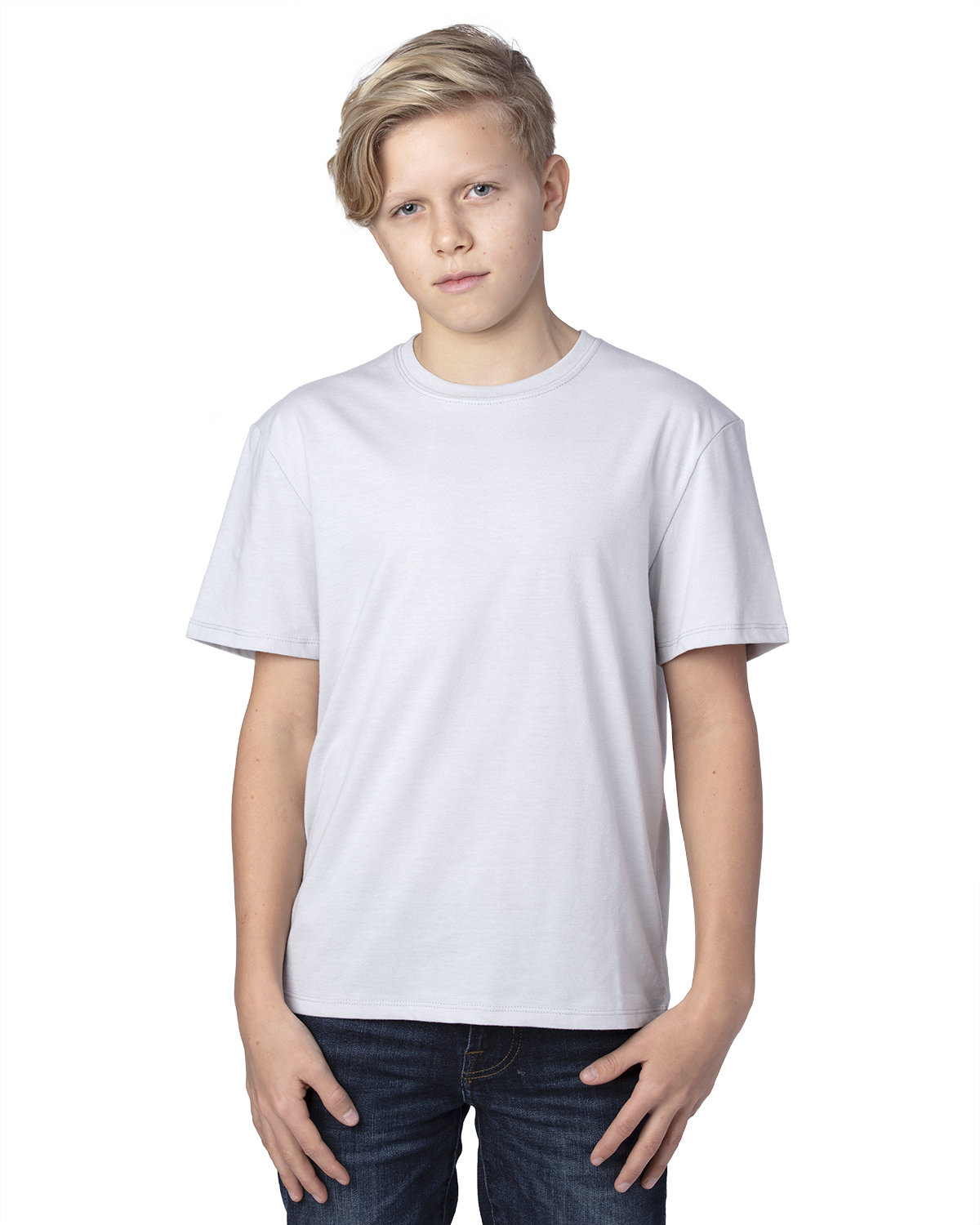 Threadfast Apparel Youth Ultimate T-Shirt SILVER