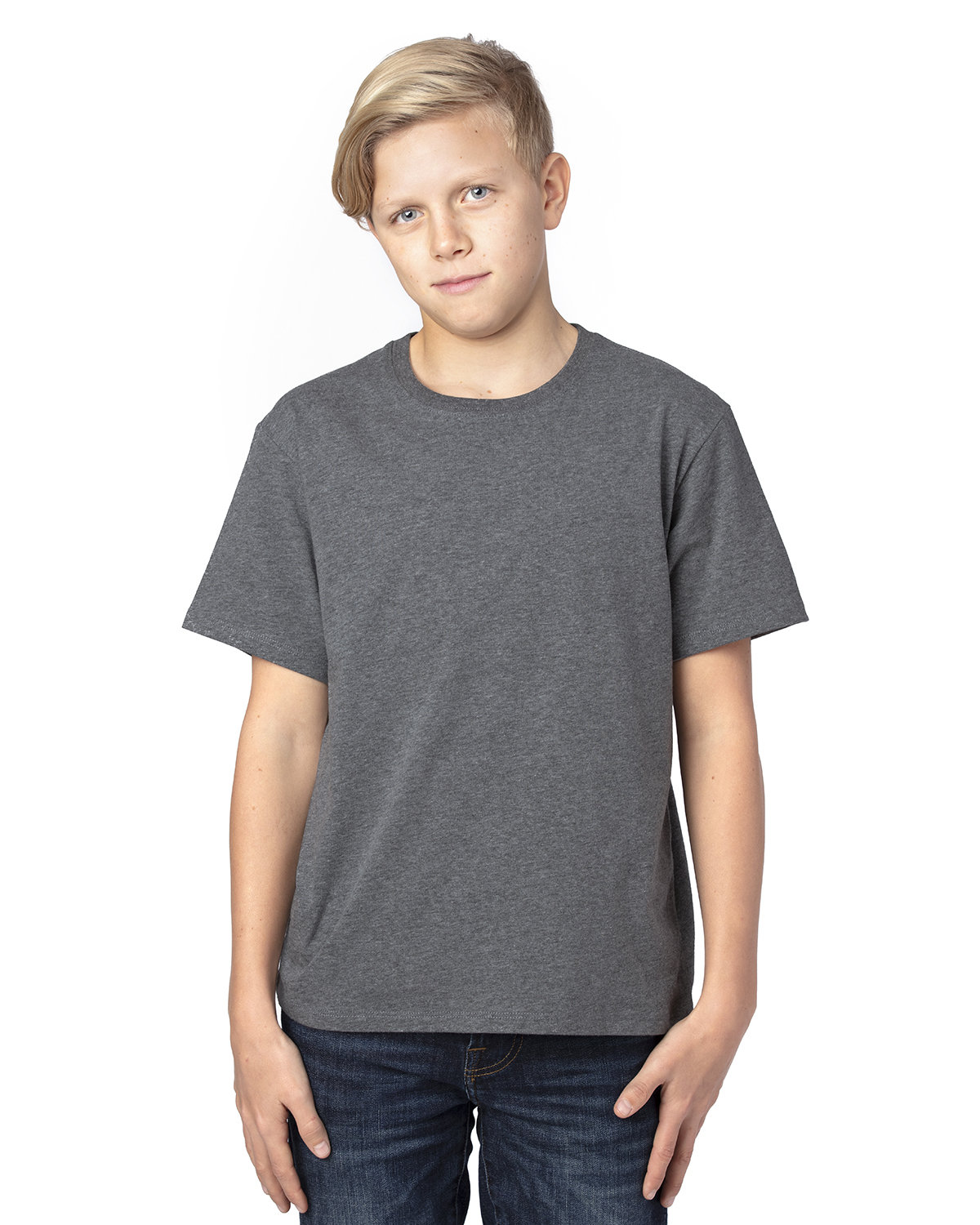Threadfast Apparel Youth Ultimate T-Shirt CHARCOAL HEATHER