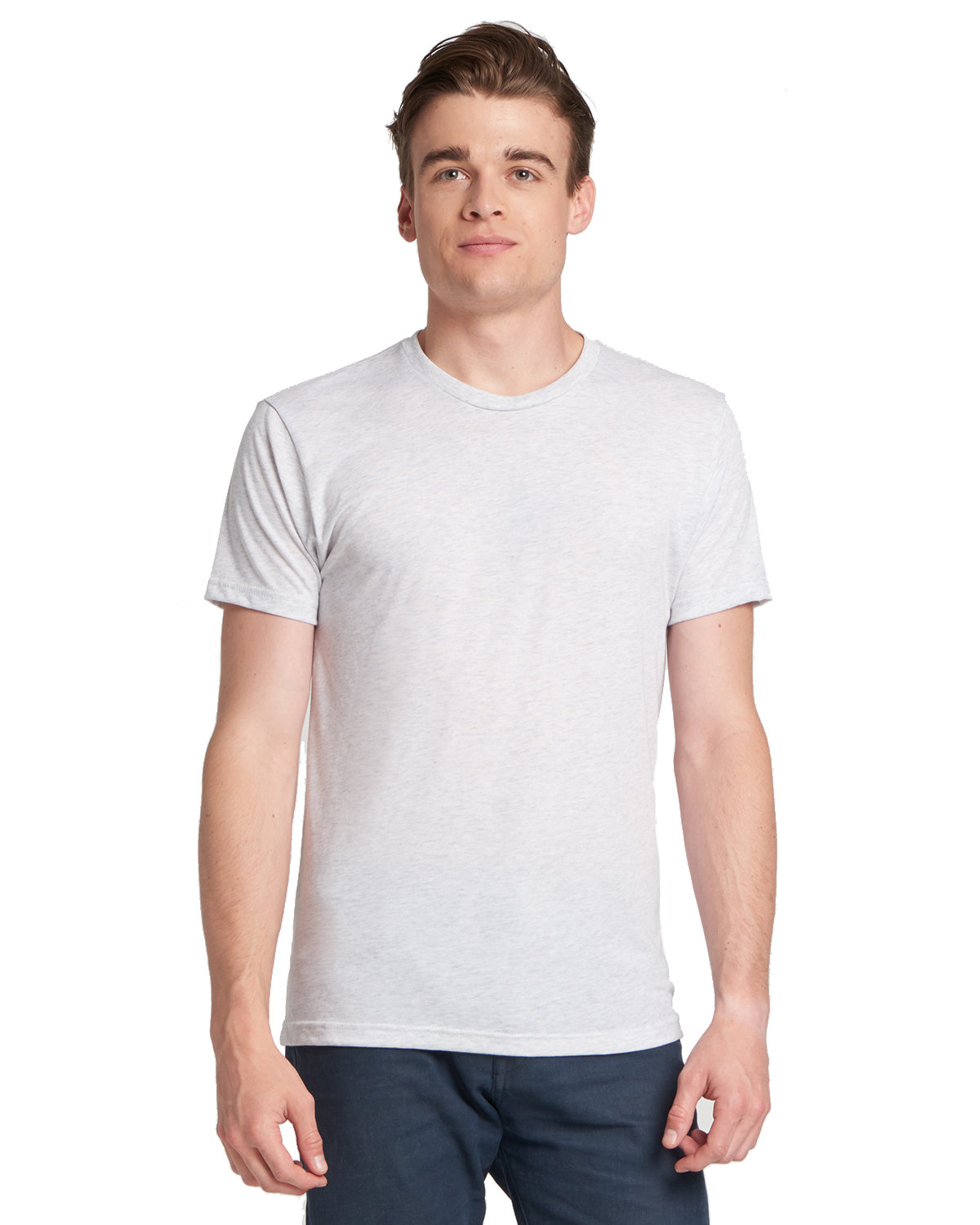 Next Level Men's Made in USA Triblend T-Shirt HEATHER WHITE