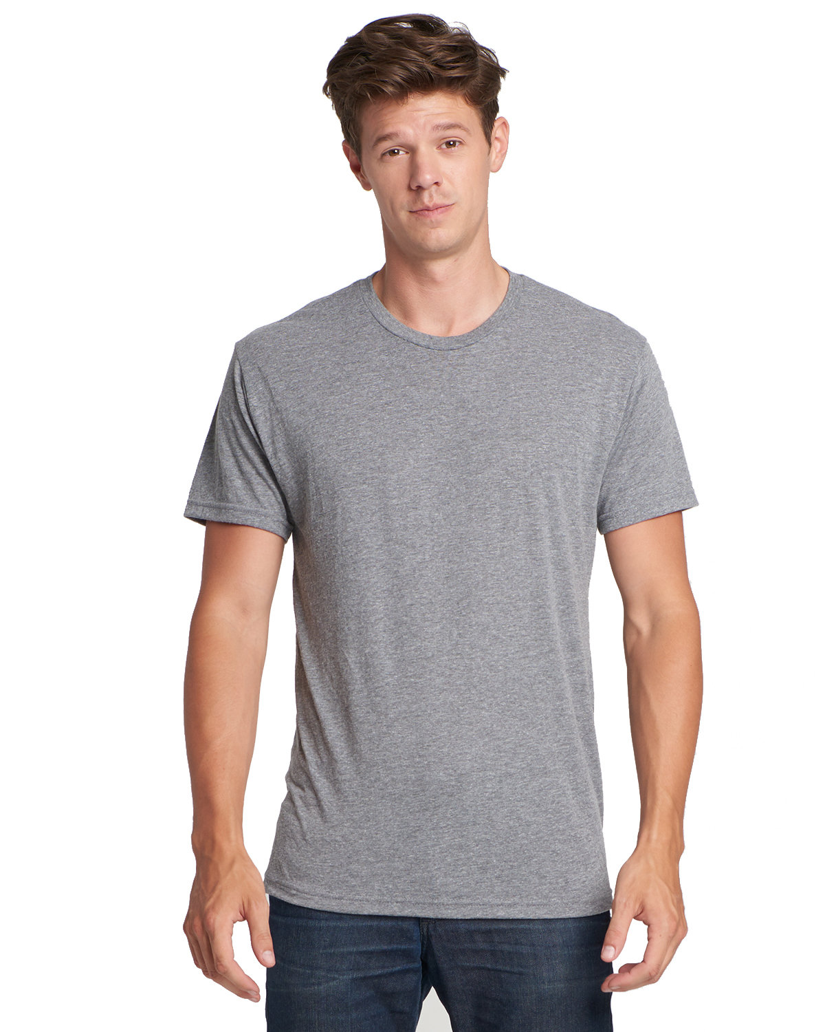 Next Level Men's Made in USA Triblend T-Shirt PREMIUM HEATHER