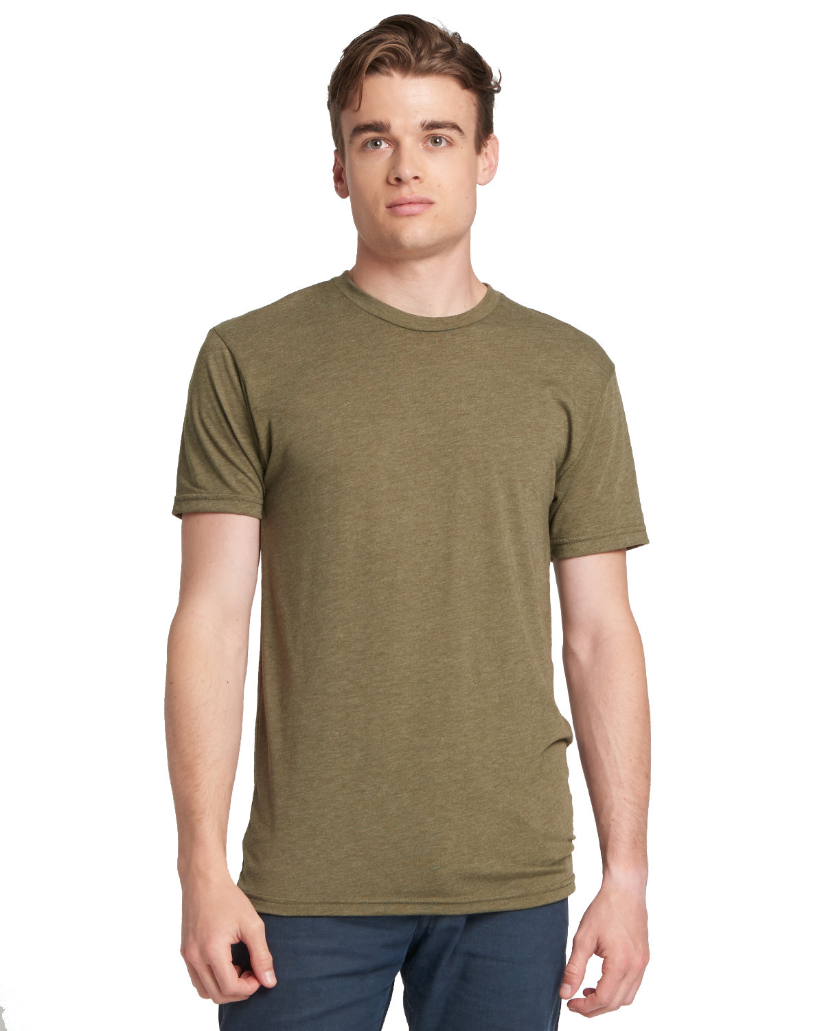 Next Level Men's Made in USA Triblend T-Shirt MILITARY GREEN