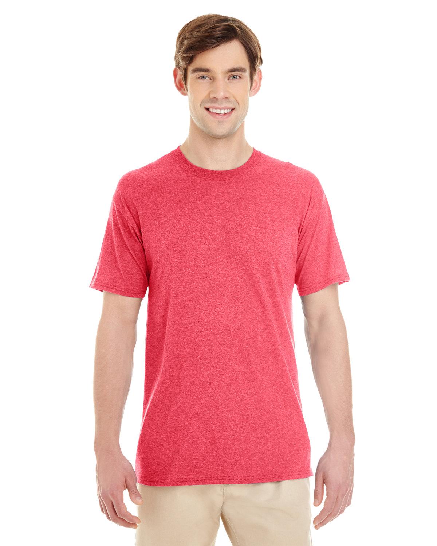 Jerzees Adult TRI-BLEND T-Shirt FIERY RED HTHR