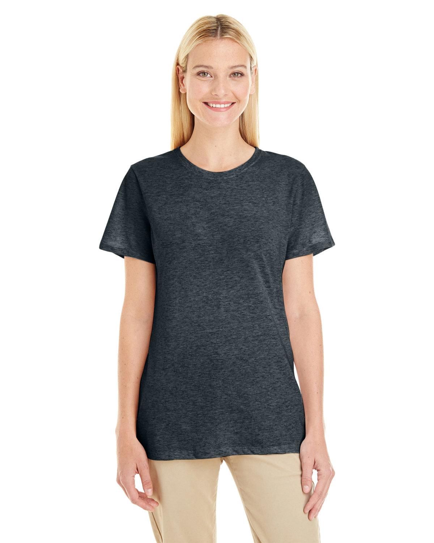 Jerzees Ladies' TRI-BLEND T-Shirt BLACK HEATHER