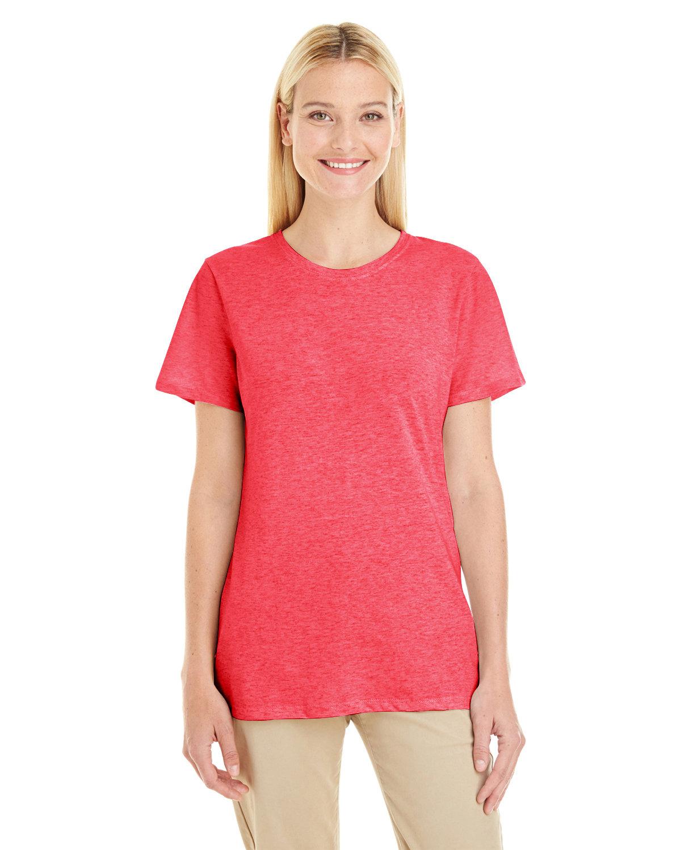 Jerzees Ladies' TRI-BLEND T-Shirt FIERY RED HTHR