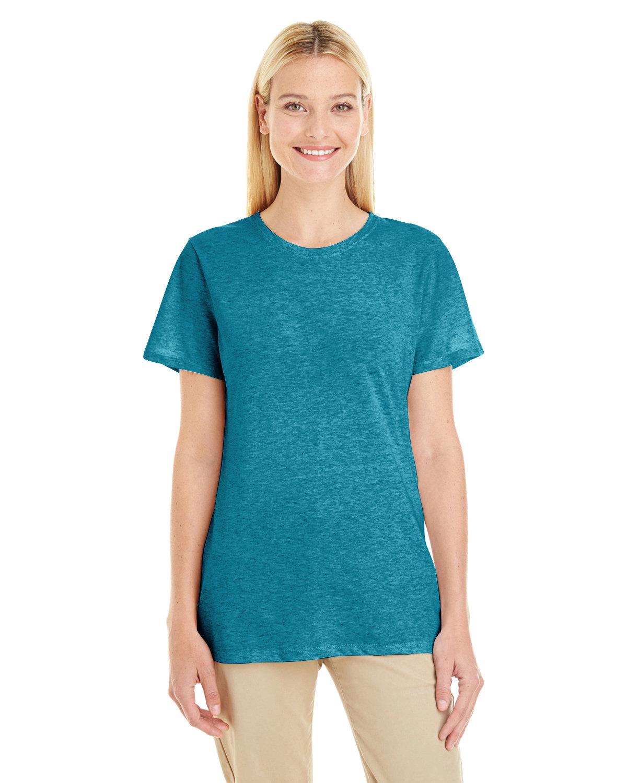 Jerzees Ladies' TRI-BLEND T-Shirt MOSAIC BLUE HTHR