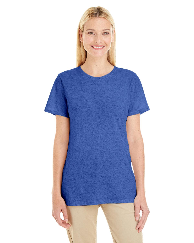 Jerzees Ladies' TRI-BLEND T-Shirt TRUE BLUE HEATHR