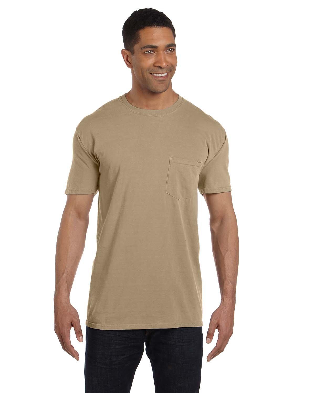 Comfort Colors Adult Heavyweight Pocket T-Shirt KHAKI