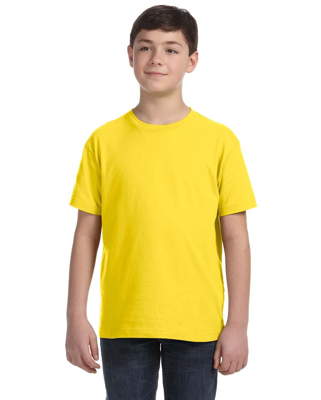 LAT Youth Fine Jersey T-Shirt YELLOW