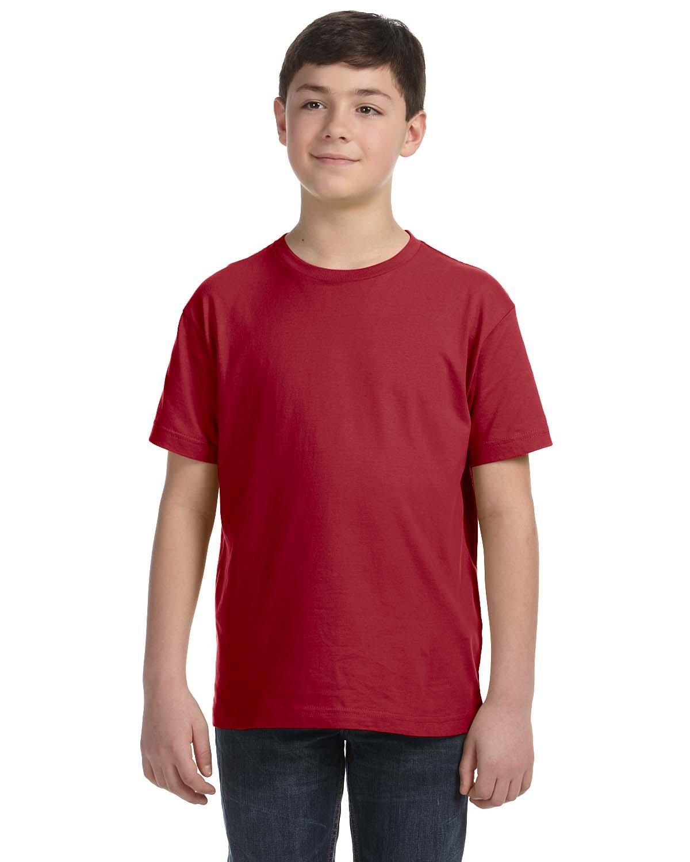 LAT Youth Fine Jersey T-Shirt GARNET