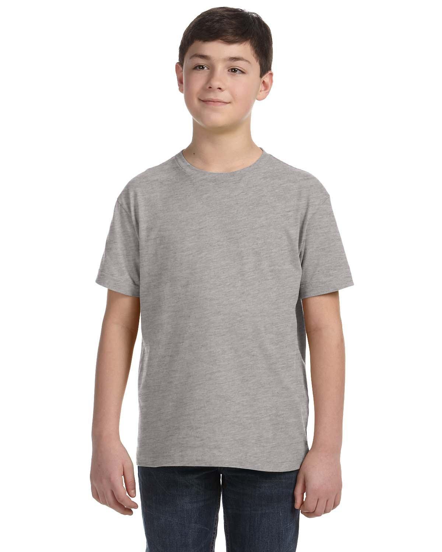 LAT Youth Fine Jersey T-Shirt HEATHER