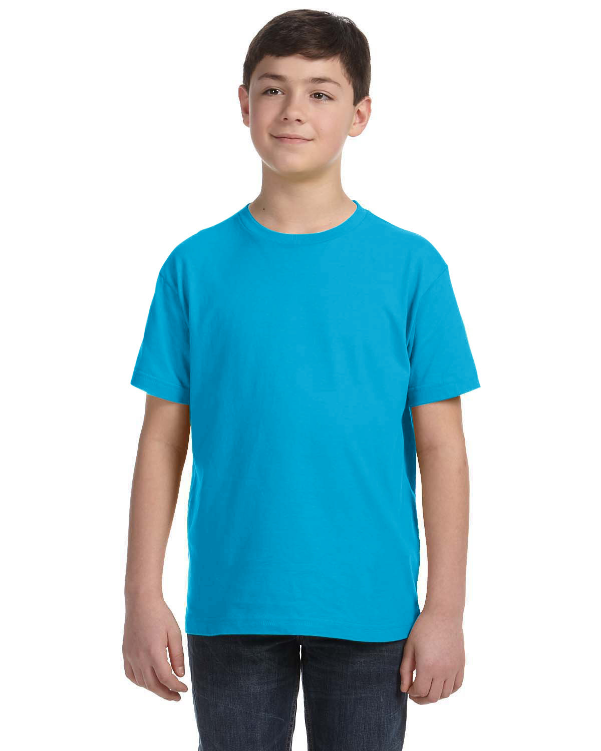 LAT Youth Fine Jersey T-Shirt TURQUOISE