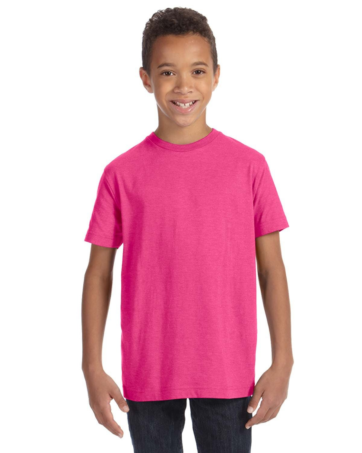LAT Youth Fine Jersey T-Shirt VINTAGE HOT PINK