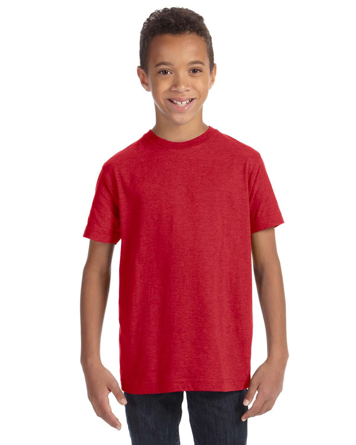 LAT Youth Fine Jersey T-Shirt VINTAGE RED