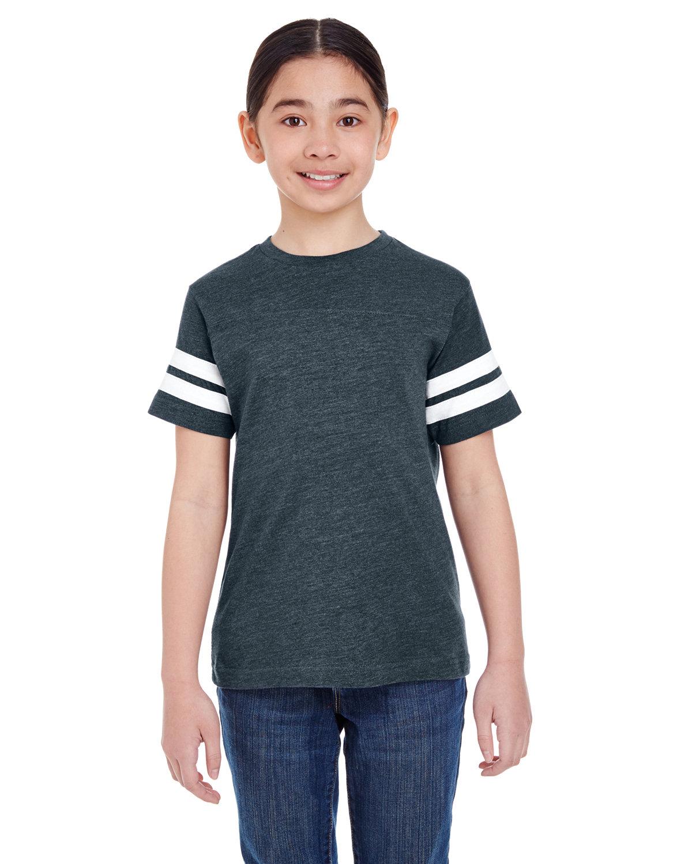 LAT Youth Football Fine Jersey T-Shirt VN NAVY/ BLD WHT