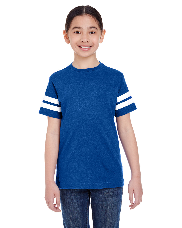 LAT Youth Football Fine Jersey T-Shirt VN ROYAL/ BD WHT
