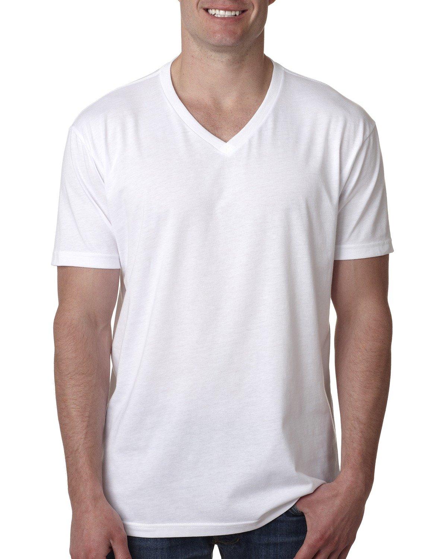 Next Level Men's CVC V-Neck T-Shirt WHITE