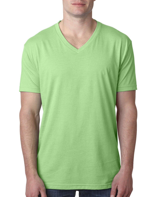 Next Level Men's CVC V-Neck T-Shirt APPLE GREEN