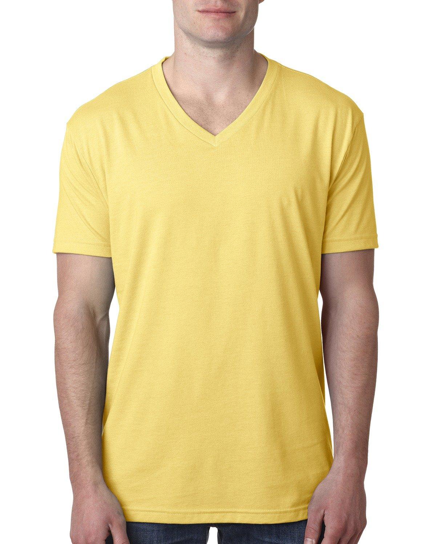 Next Level Men's CVC V-Neck T-Shirt BANANA CREAM
