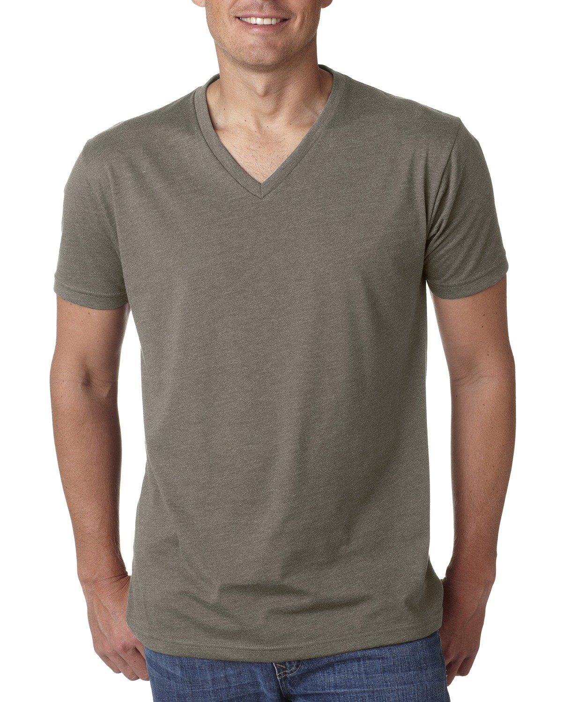 Next Level Men's CVC V-Neck T-Shirt WARM GRAY
