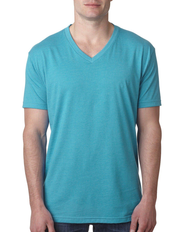 Next Level Men's CVC V-Neck T-Shirt BONDI BLUE