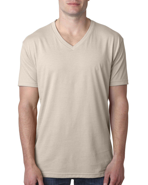 Next Level Men's CVC V-Neck T-Shirt SAND