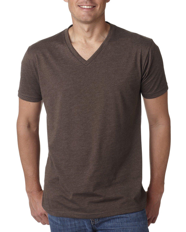 Next Level Men's CVC V-Neck T-Shirt ESPRESSO