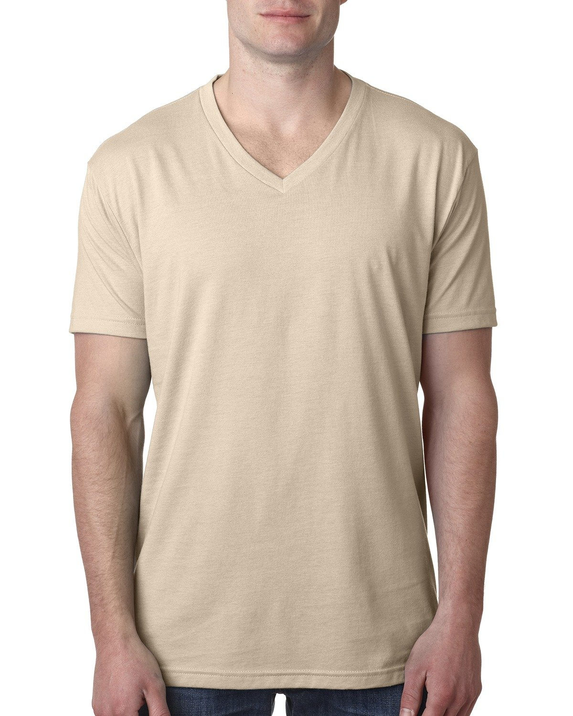 Next Level Men's CVC V-Neck T-Shirt CREAM