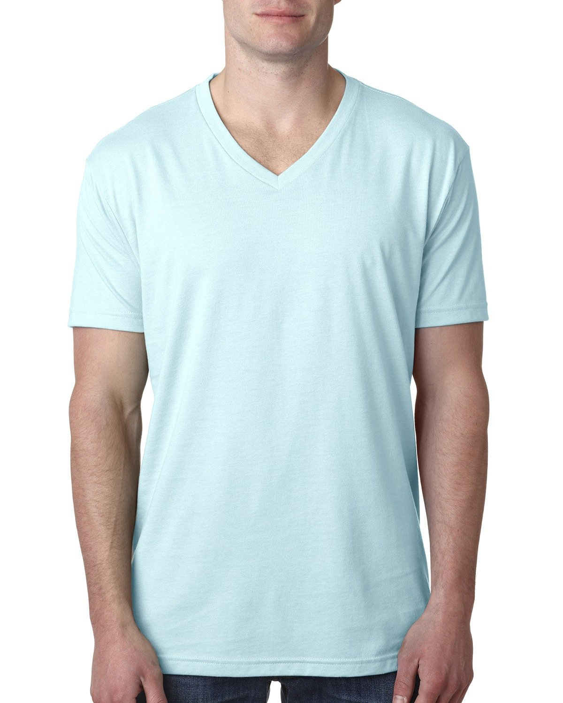 Next Level Men's CVC V-Neck T-Shirt ICE BLUE