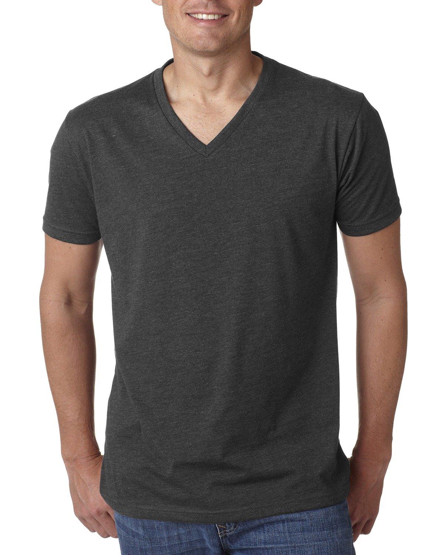 Next Level Men's CVC V-Neck T-Shirt CHARCOAL