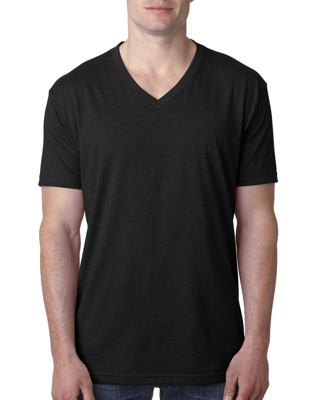 Next Level Men's CVC V-Neck T-Shirt BLACK