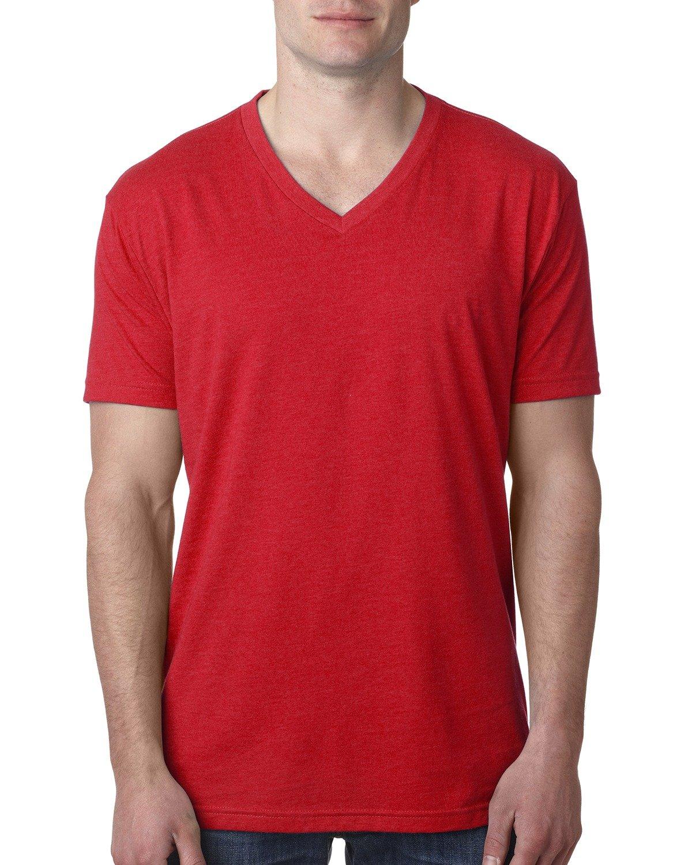 Next Level Men's CVC V-Neck T-Shirt RED