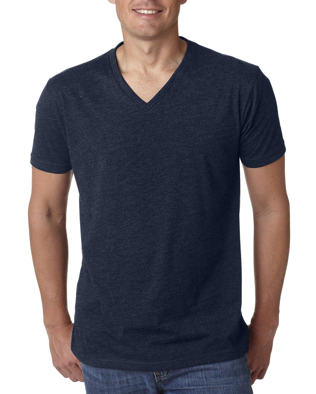 Next Level Men's CVC V-Neck T-Shirt MIDNIGHT NAVY