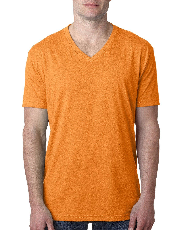 Next Level Men's CVC V-Neck T-Shirt ORANGE