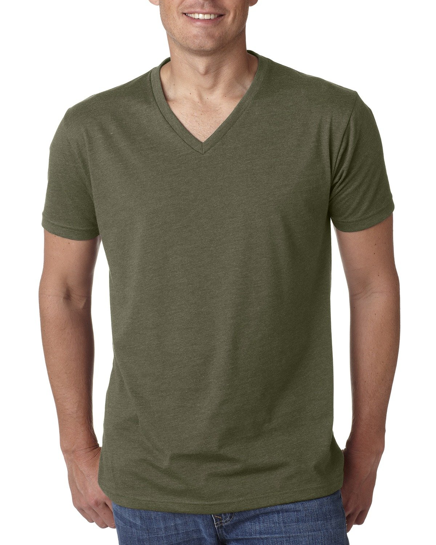 Next Level Men's CVC V-Neck T-Shirt MILITARY GREEN