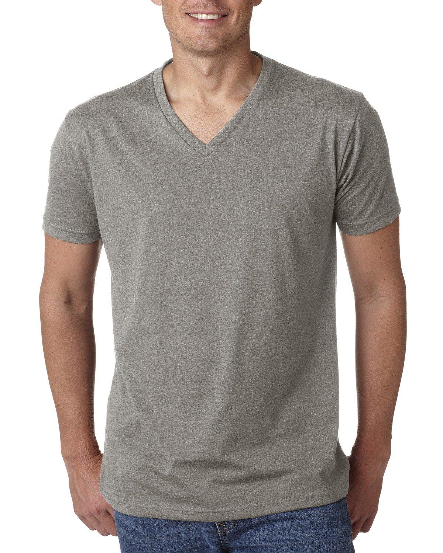 Next Level Men's CVC V-Neck T-Shirt STONE GRAY