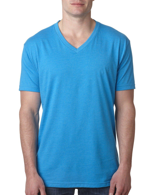 Next Level Men's CVC V-Neck T-Shirt TURQUOISE