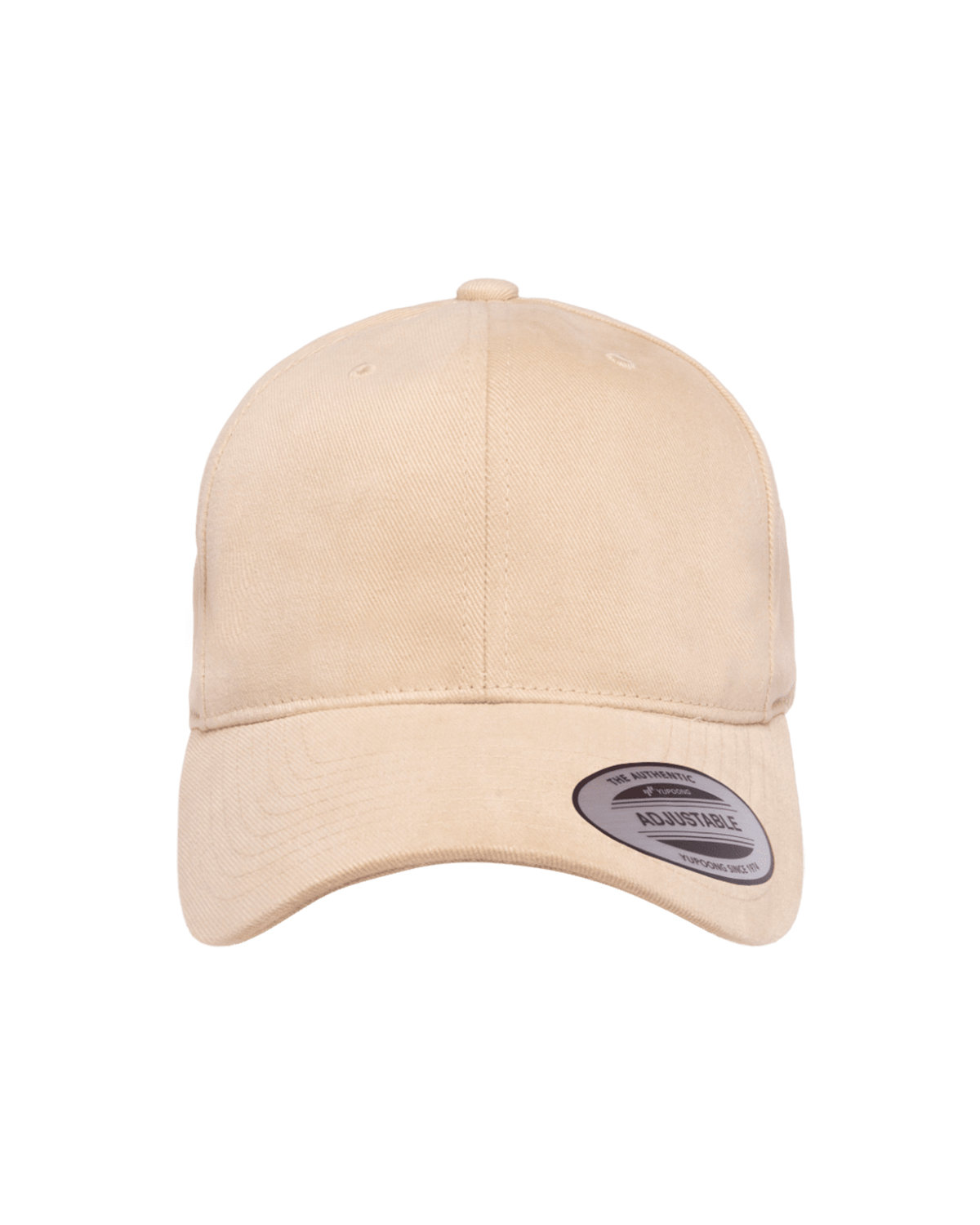 Yupoong Adult Brushed Cotton Twill Mid-Profile Cap PUTTY